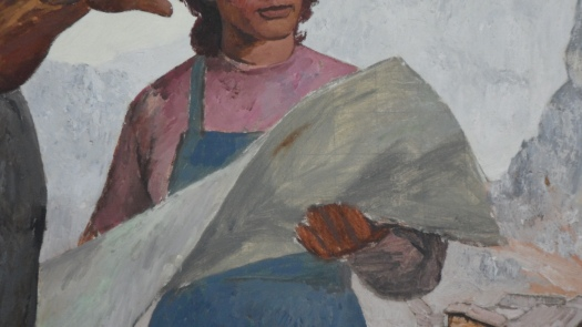 Shaban Hysa, Më Tej [Beyond], 1969, National Gallery of Art, Tirana (detail)